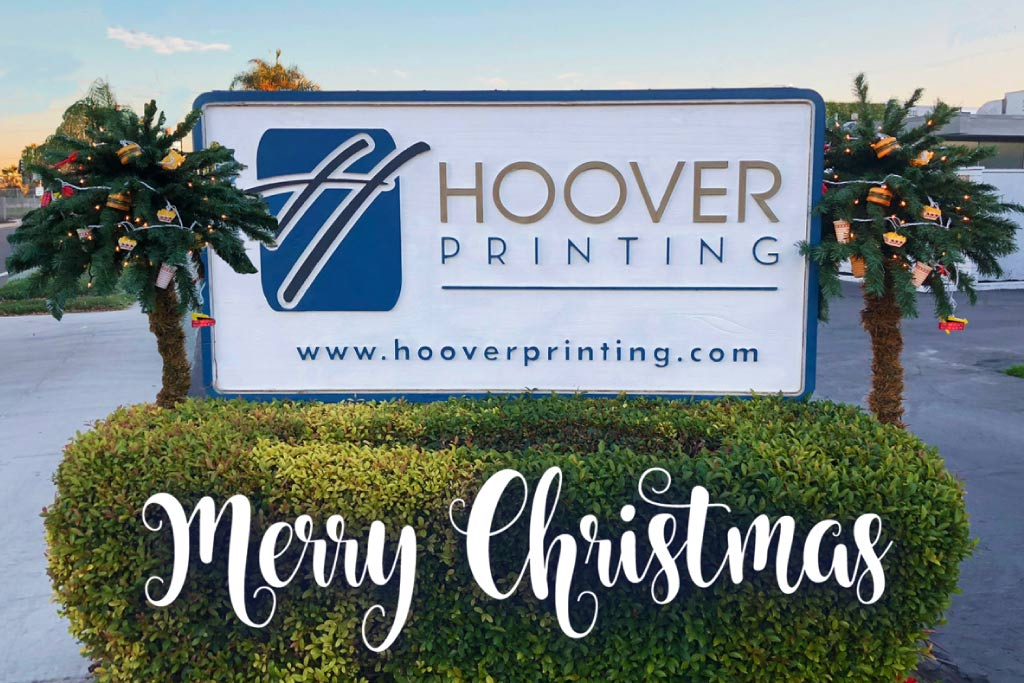 We wish you all a very Merry Christmas - Hoover Printing